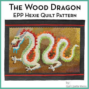 Hexie Dragon Quilt Pattern - PDF QP00012