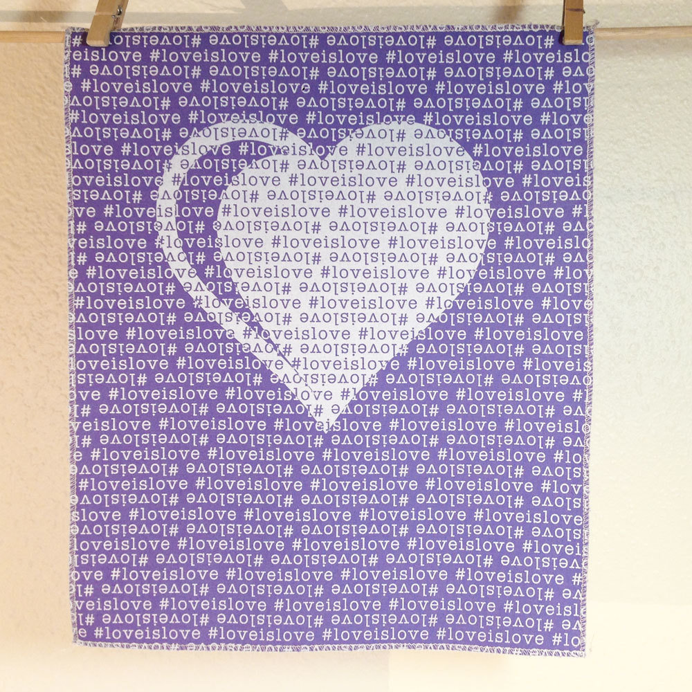 #LoveIsLove - Hand Printed Fabric Panel