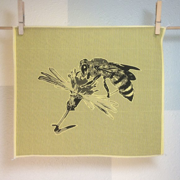 Honeybee - Hand Printed Fabric Panel