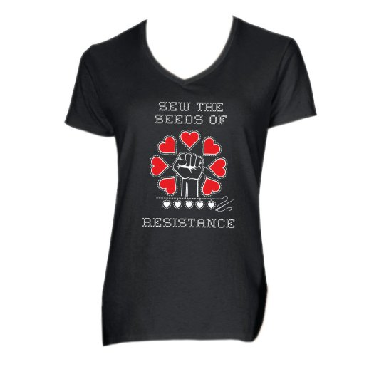 Sew The Seeds Of Resistance - Women's V-Neck Tee AT01011