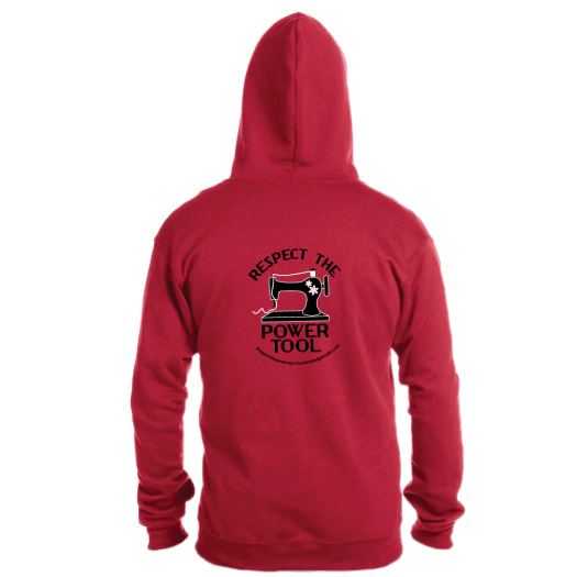 Respect The Power Tool* - Full Zip Hoody RED AT01025