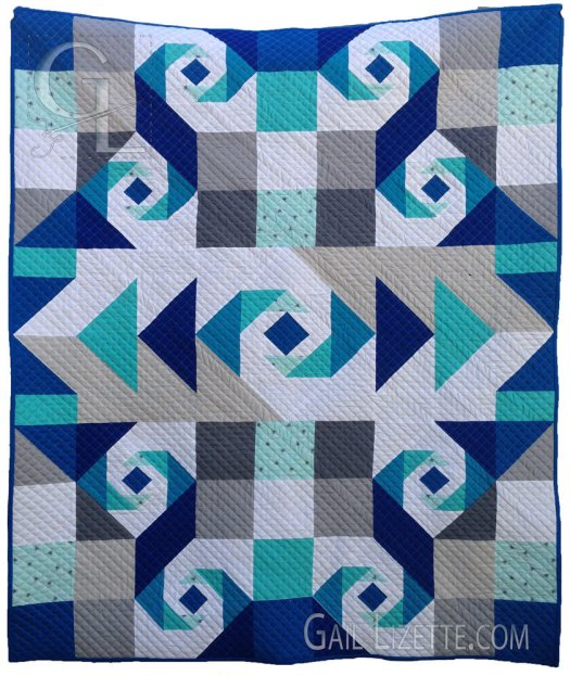 Swirling Oceans Quilt Pattern - PDF QP0017