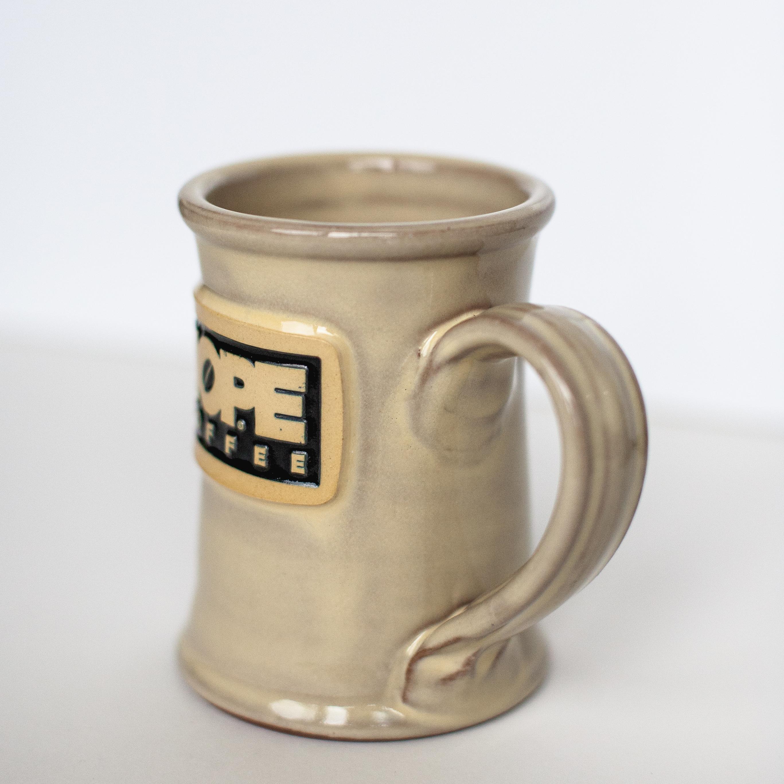 HOPE Coffee 12 oz Handcrafted Stoneware Mug - Jr Executive Style Butter Glaze