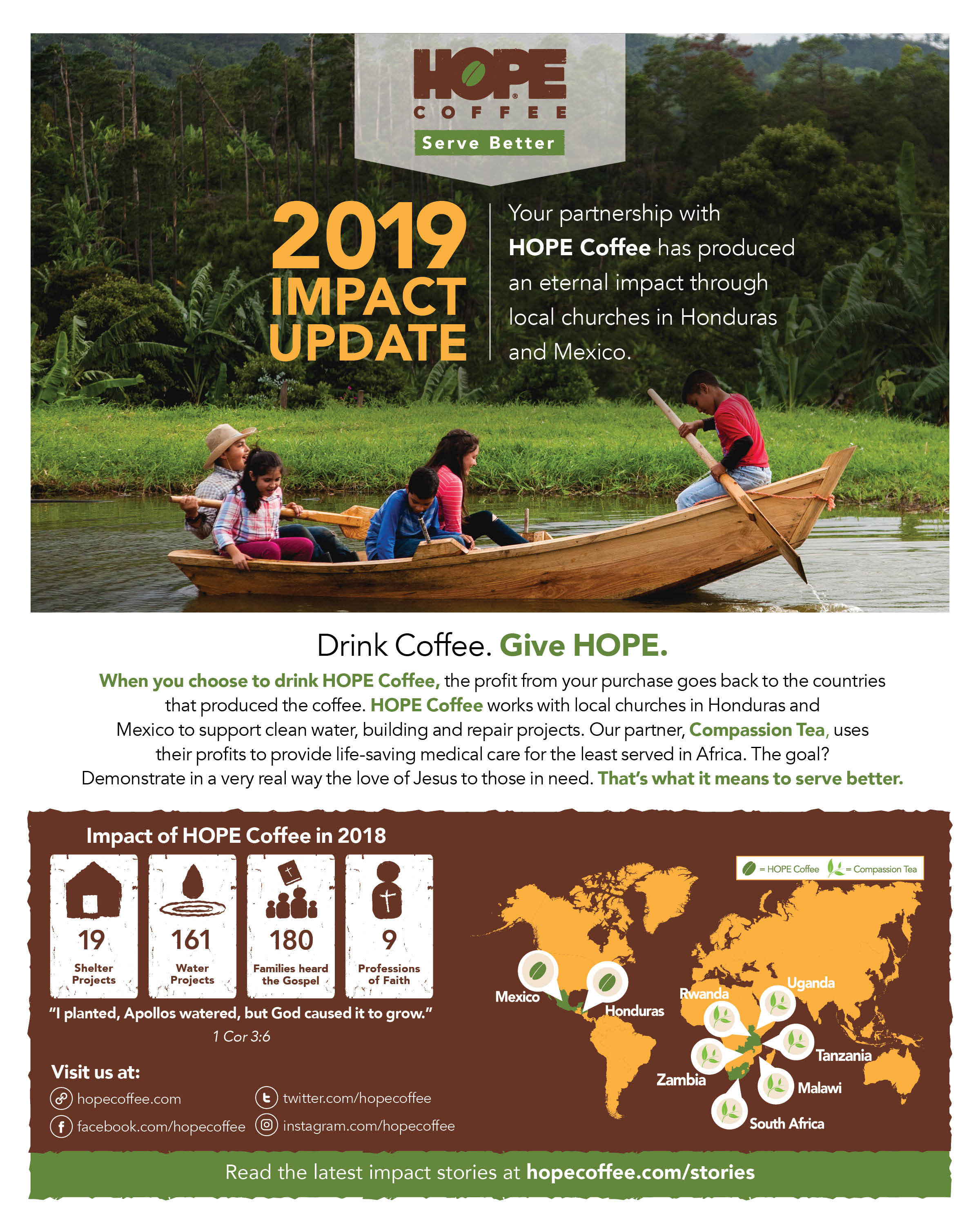 Packs of 25 Impact Reports and Java Club Cards MM010