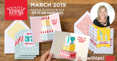 "March 2019 Paper Pumpkin Kit ""Poppin' Birthday"" Kit"