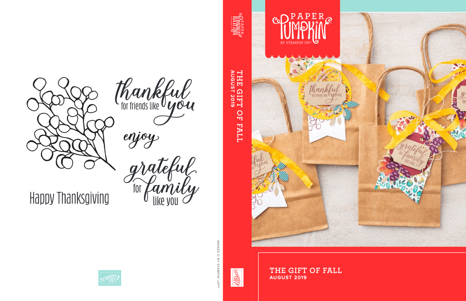 """August 2019 Paper Pumpkin Kit """"The Gift of Fall"""" Kit"""