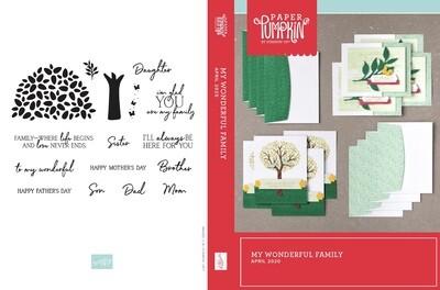 April 2020 My Wonderful Family Paper Pumpkin Kit