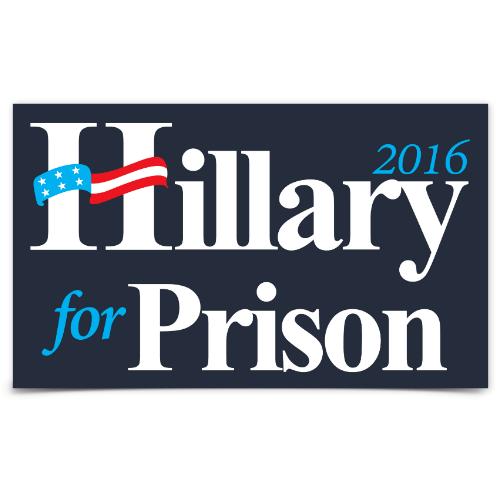 sticker hillary for prison