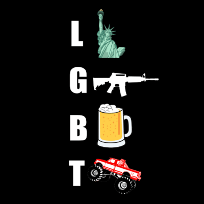 T-Shirt - Liberty, Guns, Beer, Trucks