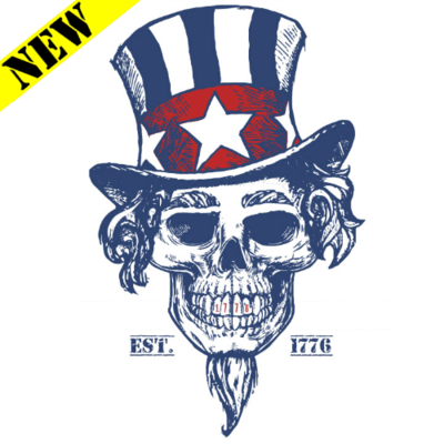 T-Shirt - Uncle Sam Skull