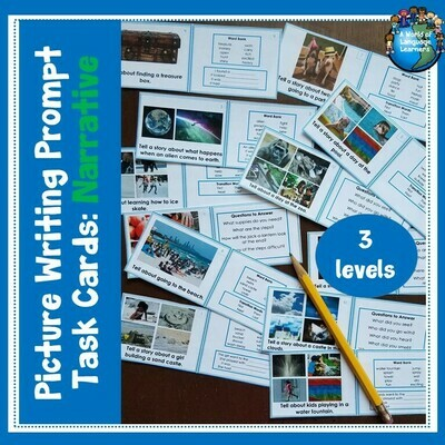 Narrative Picture Prompt Writing Task Cards