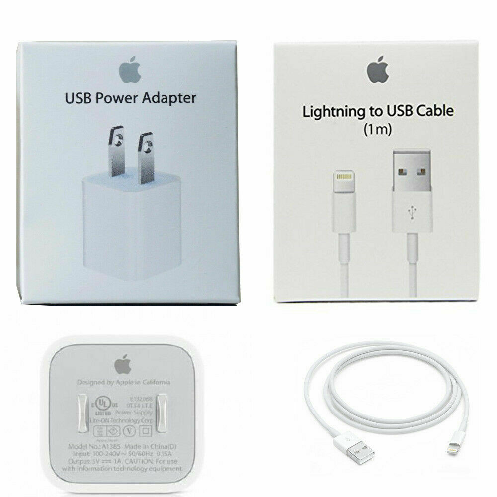 Combo Wall Charger & Cable 8 Pin Apple Charger Online only