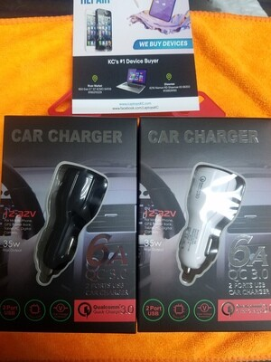 35 Watt Car Charger Fast Charger High Quality USB & USB C