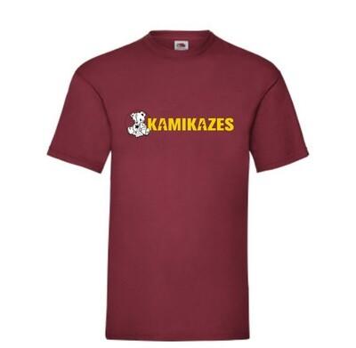 Camiseta kamikazes rojo teja