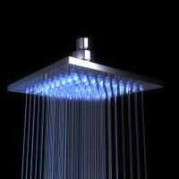 """Oasis Square Stainless Steel 8"""" Rain Shower Head With LED ..."""