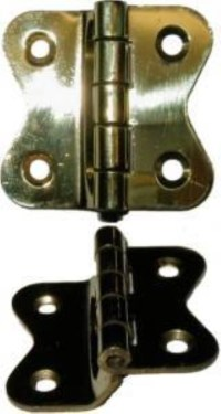 Hoosier Cabinet Hinge - Polished Stamped Brass | Hoosier ...