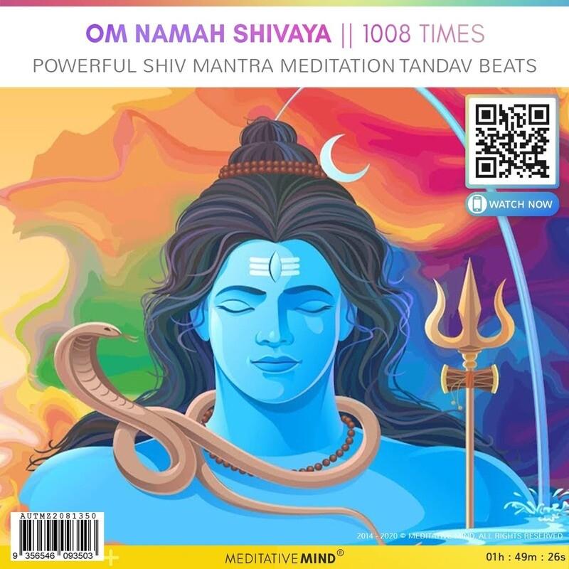 OM NAMAH SHIVAYA    1008 Times - Powerful Shiv Mantra Meditation Tandav Beats