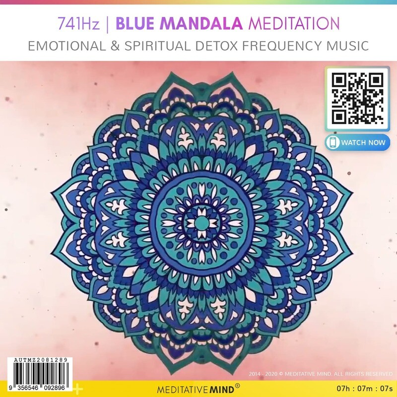 741Hz | BLUE MANDALA MEDITATION - Emotional & Spiritual Detox Frequency Music