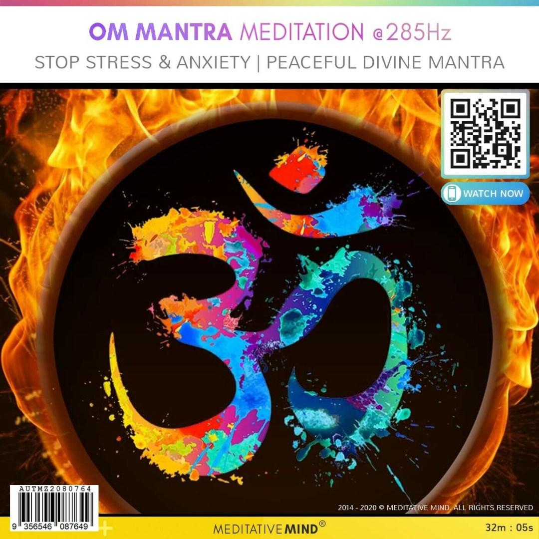 OM Mantra Meditation @ 285 Hz - Stop Stress & Anxiety l Peaceful Divine Mantra