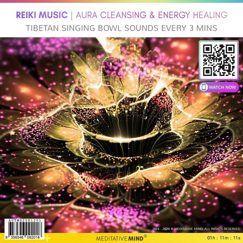 Reiki Music | Aura Cleansing & Energy Healing - Tibetan Singing Bowl Sounds Every 3 Mins
