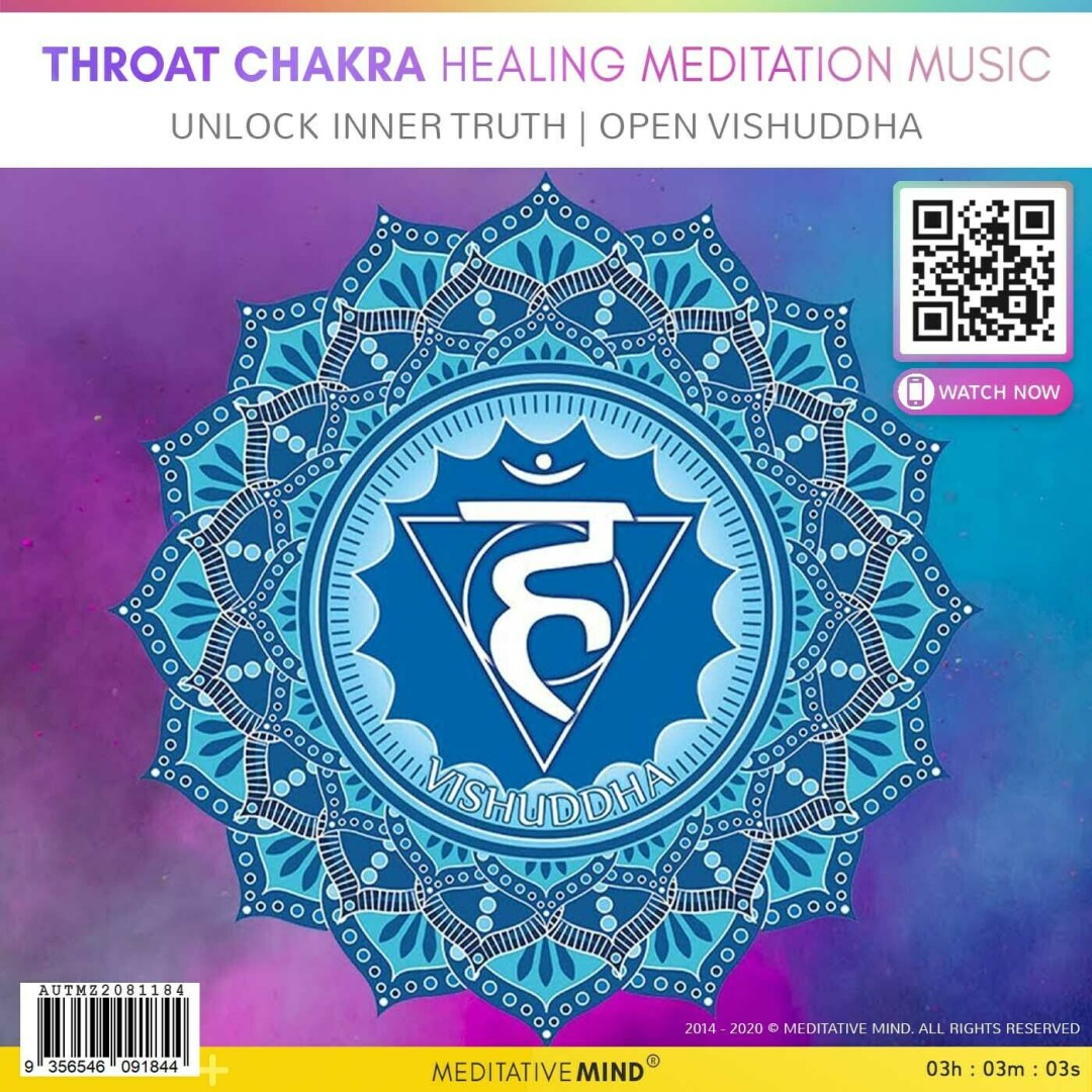 THROAT CHAKRA HEALING MEDITATION MUSIC -  Unlock Inner Truth | Open Vishuddha