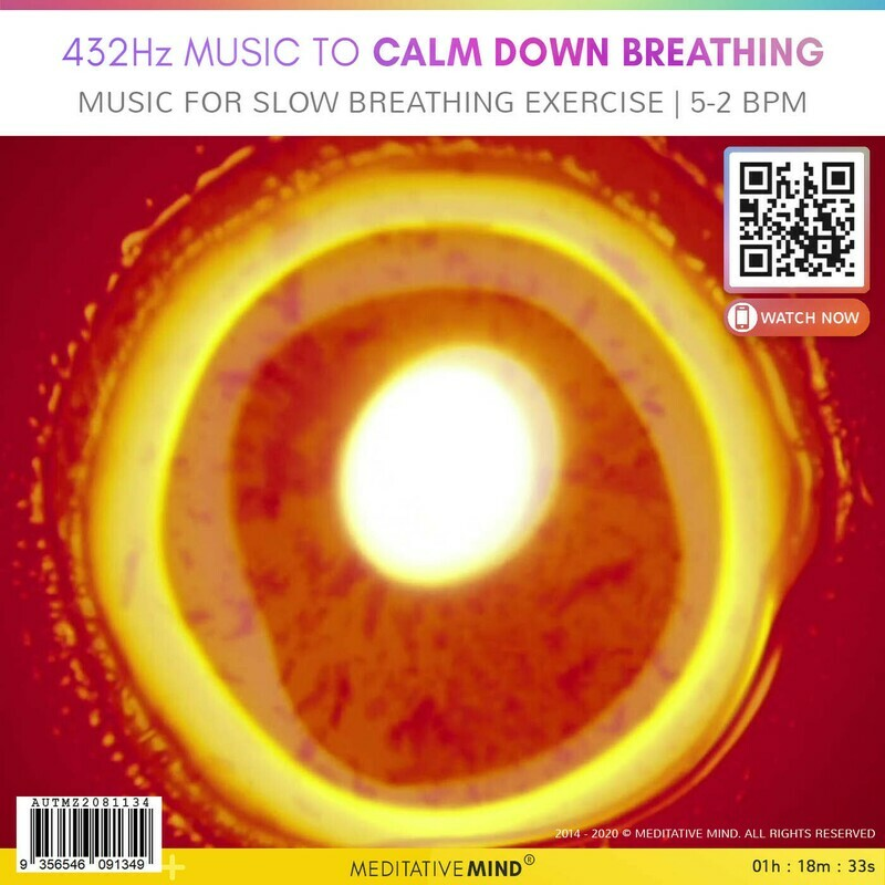 432Hz Music to Calm Down Breathing - Music for Slow Breathing Exercise   5-2 bpm