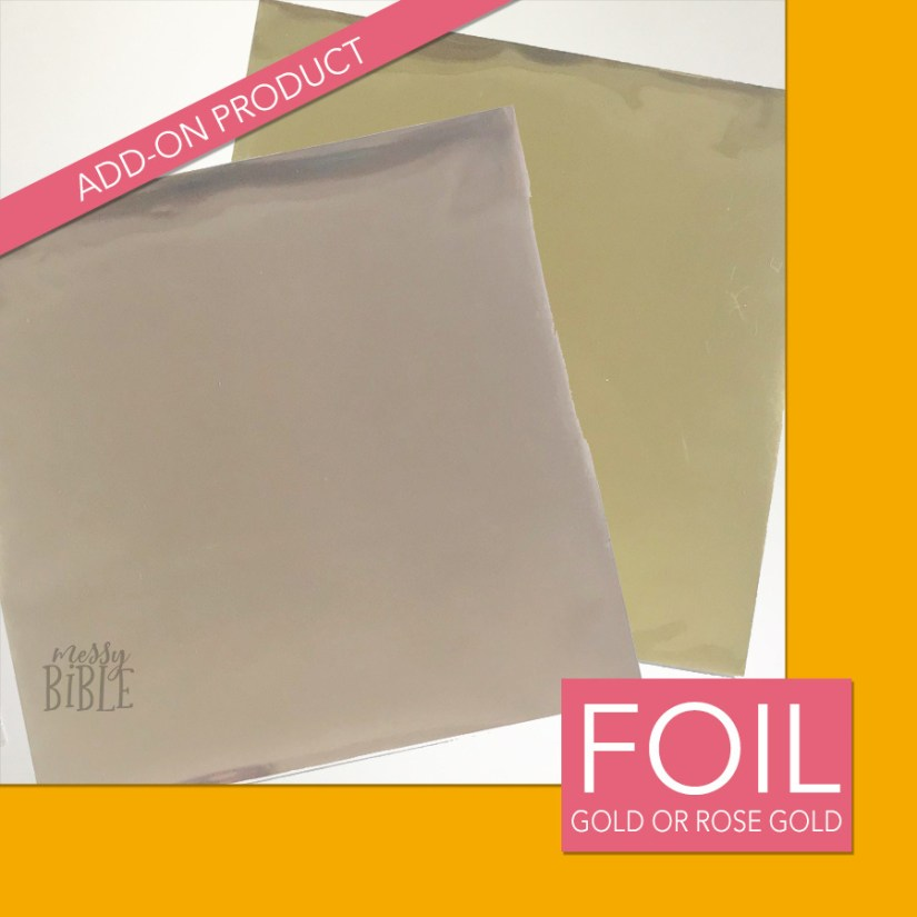 Gold or Rose Gold Transfer Foil - ADD-ON Product Only 3018
