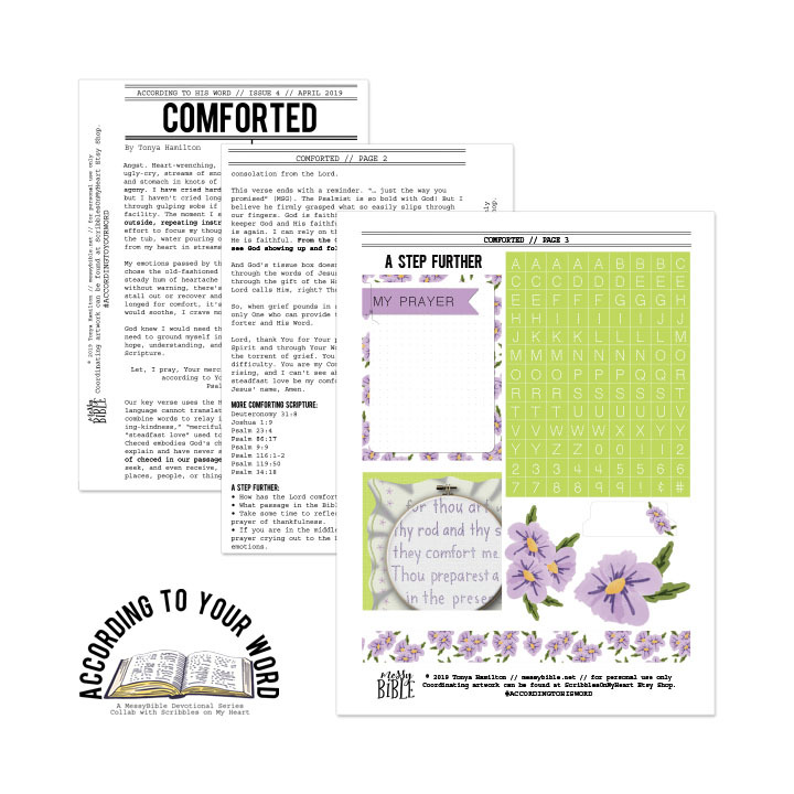 Comforted Devotional Kit (April '19 ATYW Digital Kit) 6016