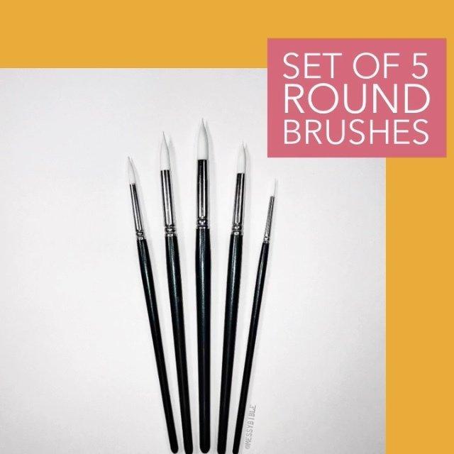 Round Brushes - set of 5