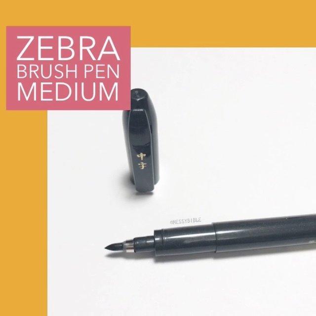 Zebra Brush Pen - Medium (WF3) 3004