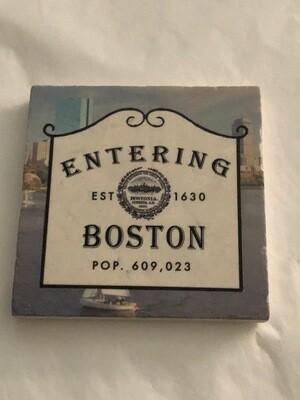 Entering Boston Marble Coaster