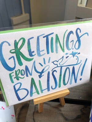 Greetings From Bahston Card