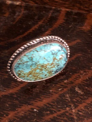 Turquoise & Sterling Silver Handcrafted Ring