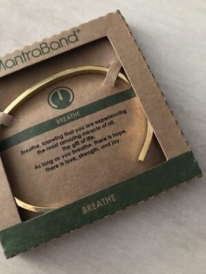 Mantra Band Bracelet - Breathe - Gold