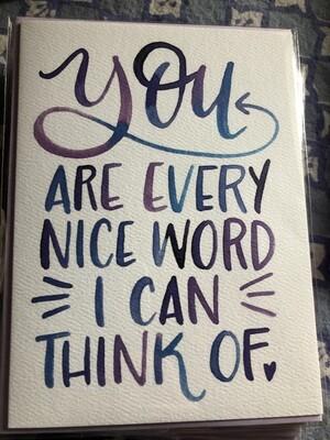 Every Nice Word Card