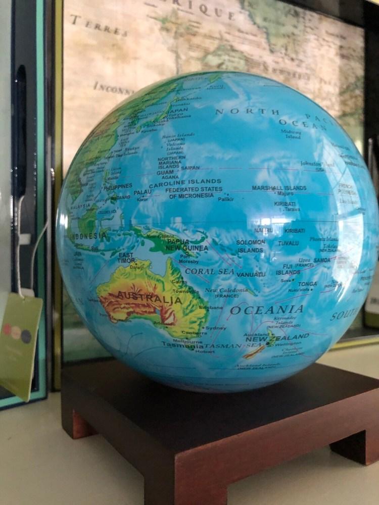 Mova Globe - Relief Map Blue - 6