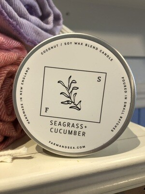 Seagrass & Cucumber Candle - 7.5 oz.