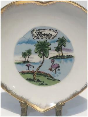 Vintage Old Florida Souvenir Plate