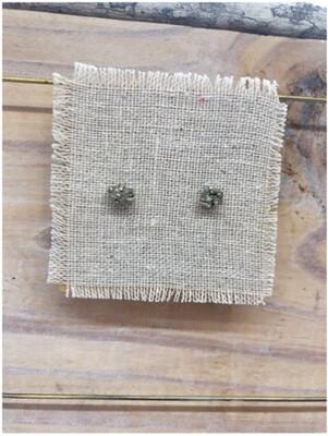 Pyrite Stud Earrings set in Sterling Silver