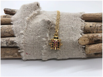 14kt Gold Filled Chain with Lady Bug