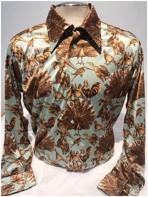 70's Oleg Cassino Audubon Disco Long Sleeve