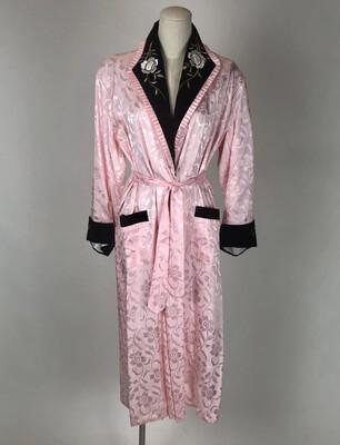 70's Japanese Velvet Lapel Silk Robe