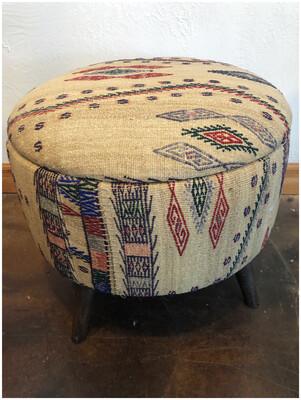 Vintage Kilim Handmade Stool