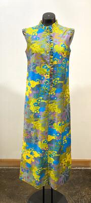 Vintage 1960's Andrade Resort Shops Hawaiian Maxi Dress