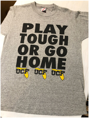 Early 90's Play Tough Or Go Home UCF Tee