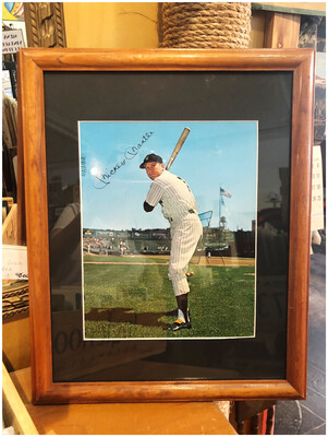 Vintage Mickey Mantle Framed