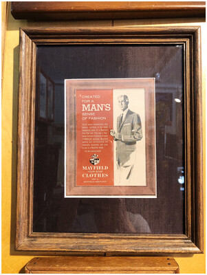 Vintage Mayfield Four Star Clothing For Men Framed Ad
