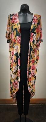 Modern Stretch Mesh Kimono