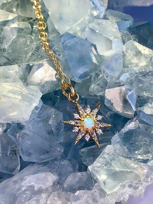 14kt. Gold Filled & Gold Plated, Opal Necklace