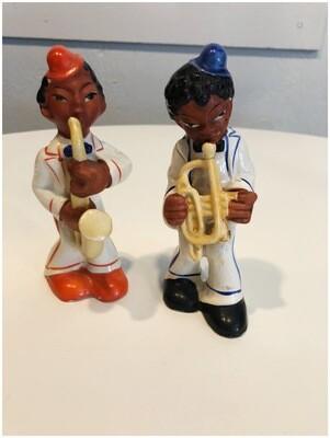Vintage Pair Of 1950's Jazz Musicians